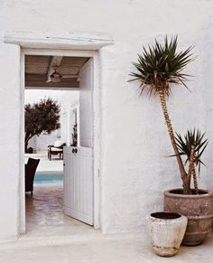 Via coffee stained cashmere White courtyard. Via coffee stained cashmere Garden Deco, Outdoor Spaces, Indoor Outdoor, Outdoor Living, Home Interior, Interior And Exterior, Spring Break, Boho Home, Deco Design