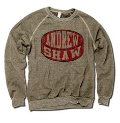 Andrew Shaw Officially Licensed NHLPA Chicago Men's Crew Sweatshirt S-2XL Andrew Shaw Red Puck