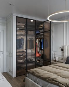 Wardrobe Door Designs, Wardrobe Design Bedroom, Bedroom Closet Design, Modern Bedroom Design, Home Room Design, Dream Home Design, Closet Designs, Home Interior Design, Apartment Interior