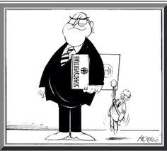 "Karikatur 1990 Walter Hanel Virtuelle Ausstellung ""Geteilt - Vereint"" www.hdg.de"