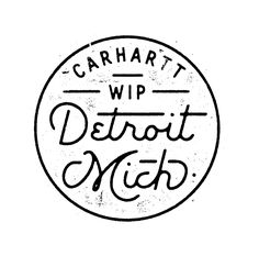 carhart #detroit | #typography