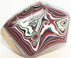 Button ~ Fordite Top, Veg Ivory Base Laminated Together - Made By KPHoppe - Large by KPHoppe on Etsy