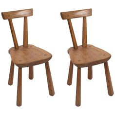 Rustic Wooden Side Chairs