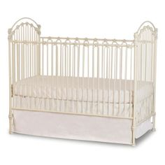 Venetian Iron Crib in Antique White - love. Think this one might be the winner!