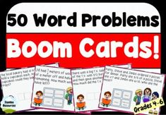 Distance learning is a challenge and requires a lot of prep. These Boom Cards are perfect for helping your students learn from home and are ready to go! 52 questions that will challenge your students and allow them to apply their knowledge in solving word problems. Boom Cards are engaging and easy to use! Student Learning, Teaching Math, Teaching Resources, Love Math, Fun Math, Maths, Math Memes, Math Humor, 50 Words