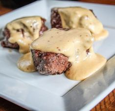 Backstrap doesn't need any help when it comes tPan grilled backstrap medallions topped with creamy beer cheese sauce.