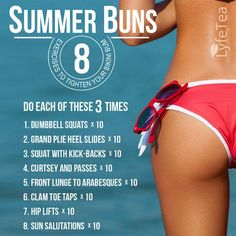 Get those perfect summer buns in less than 10 minutes! #healthy