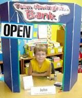Create bank using display board---do during money unit---kids take turns as bankers--- depositing money, giving change...or do as storefront...buying, selling
