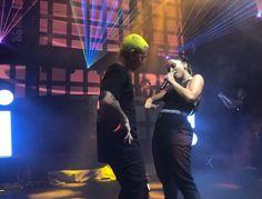 Anitta cantou ao lado de J Balvin em festa do Grammy Latino, em Las Vegas (Foto: Renata Araújo)