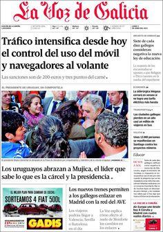 Los Titulares y Portadas de Noticias Destacadas Españolas del 3 de Junio de 2013 del Diario La Voz de Galicia ¿Que le parecio esta Portada de este Diario Español?