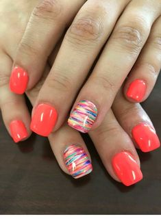 Nails ideas 66 gel nails designs that are all your fingertips need to steal the show 61 – . All you need to play the 66 gel nail design at your fingertips 61 - JANDAJOSS. Spring Nail Art, Spring Nails, Nail Summer, Summer Shellac Nails, Bright Summer Gel Nails, Nails Summer Colors, Pedicure Summer, Color Nails, Pretty Nails For Summer