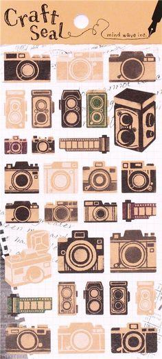 kawaii camera film retro stickers by Mind Wave