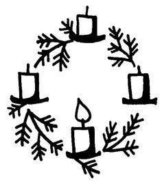 Advent wreath simply a nice picture to use Advent Wreath Prayers, Scripture Doodle, Liturgical Seasons, Christmas Wreaths, Christmas Crafts, Clipart Black And White, Bible Crafts, Zen Doodle, Hand Lettering