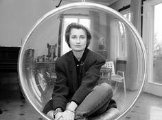 Elfriede Jelinek writer, Vienna/Austria, 11/1987