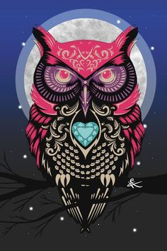 Owl by VicblahDesigns on DeviantArt <br> Owl Wallpaper Iphone, Tier Wallpaper, Neon Wallpaper, Animal Wallpaper, Owl Tattoo Drawings, Art Drawings, Lechuza Tattoo, Lettrage Chicano, Chicano Tattoos