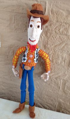 Amigurumi Toy Story : Woody from Toy Story I could use bead eyes to make it ...