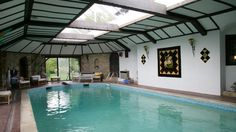 The Old Moat House - The Big Cottage Company - Kate & Tom's - Large indoor pool at The Old Moat House in Surrey