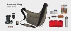 Passport Sling perfect for light packing travelling!