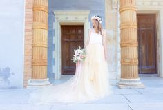 Gorgeous Tulle Wedding Skirt | Cinderella Style Tulle Skirt With Long Train | Created & Photographed by Yours Truly by Yara