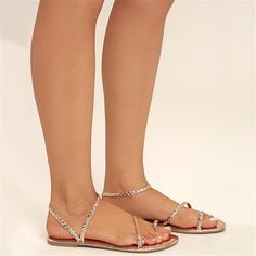 446990543 Summer Beach Large Size Bead Sandals