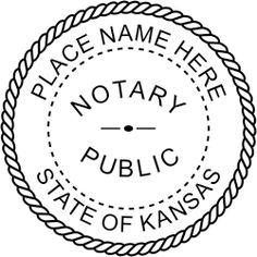 Kansas Notary rubber stamp