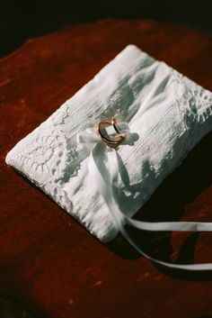 Embroidered ring pillow   Greek Island Wedding