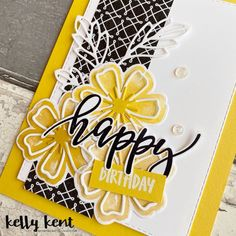 Pretty Perennials – kelly kent Beautiful Handmade Cards, Unique Cards, Creative Cards, Homemade Birthday Cards, Happy Birthday Cards, Homemade Cards, Flower Stamp, Flower Cards, Send A Card