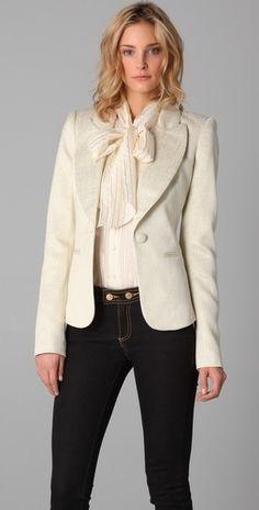 Rachel Zoe Jean Metallic Jacket - StyleSays