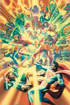 New Gods led by Darkseid and Highfather with Jimmy Olsen and Superman leap off the page in this homage to Jack Kirby's Fourth World saga.This was what many consider as Kirby's Magnum Opus. Comic Book Characters, Comic Character, Comic Books Art, Book Art, New Aquaman, Fourth World, New Gods, Dc Comics Art, Jack Kirby