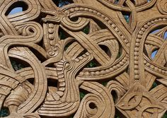 Viking wood carvings - some great jewellery design ideas here.