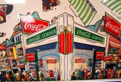 Vintage Coca Cola Childrens Window Display Giveaway