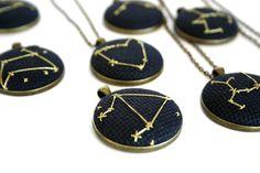 Golden Zodiac Constellation Necklace | Zelma Rose