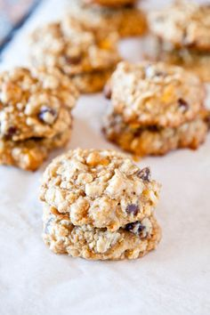 Coconut Oatmeal Toffee Cookies (from @Averie Sunshine - Love Veggies and Yoga)