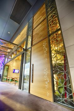 Yasmenn Al Sham Restaurant by 4SPACE, Dubai – UAE » Retail Design Blog Visual Merchandising, Small Restaurant Design, Stainless Steel Panels, Design Furniture, Dubai Uae, Retail Design, Store Design, Signage, Blog