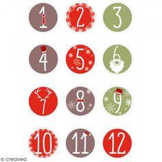 Sobres para dulces Calendario de Adviento - 24 pcs - Fotografía n°2