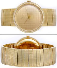 Dior Yellow Gold and Diamond La D De Dior Wristwatch 2