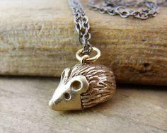Bronze Hedgehog necklace $42.00