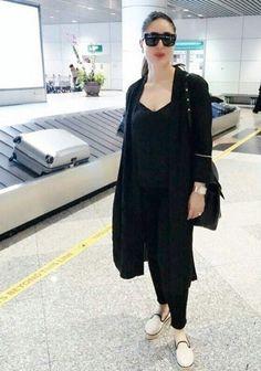 Everyone's loving monotone looks, especially Bollywood royalty, Kareena Kapoor Khan. Bollywood Outfits, Bollywood Fashion, Bollywood Stars, Shrug For Dresses, Kareena Kapoor Khan, Western Wear, Western Outfits, Bollywood Celebrities, Indian Designer Wear