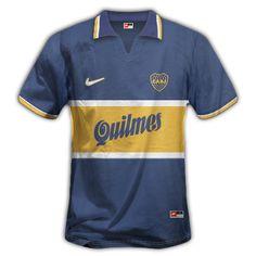 1996-97 PRIMERA CAMISETA CON NIKE Y QUILMES