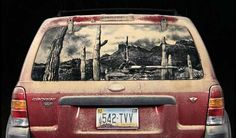 Dirty car art: Escape to the Desert