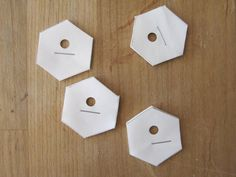 Sew Many Ways...: English Paper Piecing Tutorial...using freezer paper templates with a hole punched make removal easier