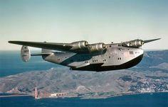 "Boeing B314 - ""California Clipper"" over San Francisco"