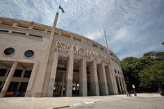 Estádio do Pacaembu, em São Paulo, que abriga o Museu do Futebol