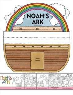 Noah's Ark - Friend Oct. Sunday School Kids, Sunday School Lessons, Sunday School Crafts, Preschool Bible Lessons, Bible Activities, Bible Story Crafts, Bible Stories, Noah's Ark Story, Noahs Ark Craft