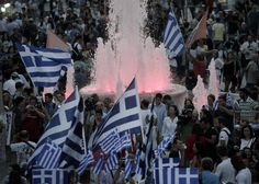 Scenes in Syntagma Square, Athens 5 July 2015