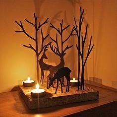 Christmas Reindeer Triple T Light Decoration - christmas parties & entertaining