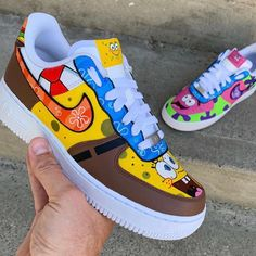 SpongeBob inches Rate this! Cop or Dr - The post SpongeBob Zoll Rate this! Cop or Dr appeared first on best shoes. Cute Sneakers, Sneakers Mode, Sneakers Fashion, Fashion Shoes, Fashion Fashion, Runway Fashion, Fashion Trends, Air Force Shoes, Nike Shoes Air Force