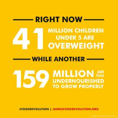SHARE and sign up to the revolution at www.jamiesfoodrevolution.org #foodrevolution #ChildhoodObesityWeek