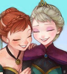 Elsa and Anna coronation day