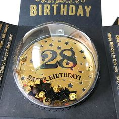 Black and gold color Birthday theme- a Globe in the center